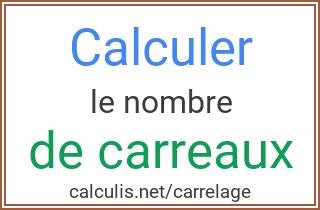 Calculer le nombre de carrelage d 39 une pi ce - Calculer surface d une piece ...