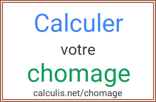 calcul are chomage