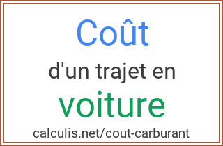 Coût Carburant