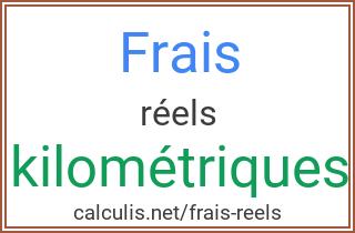 Frais Kilometriques Reels 2019