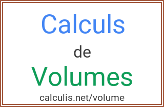 calcul volume