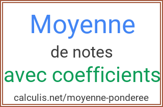 moyenne de notes