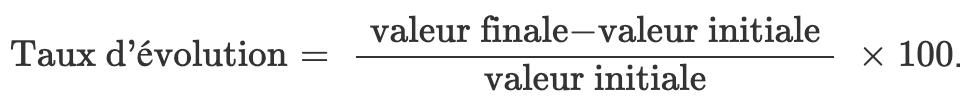 Calculer Une Variation Taux Dévolution En Pourcentage